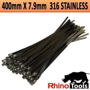 7.9mm X 400mm 316 stainless steel cable tie