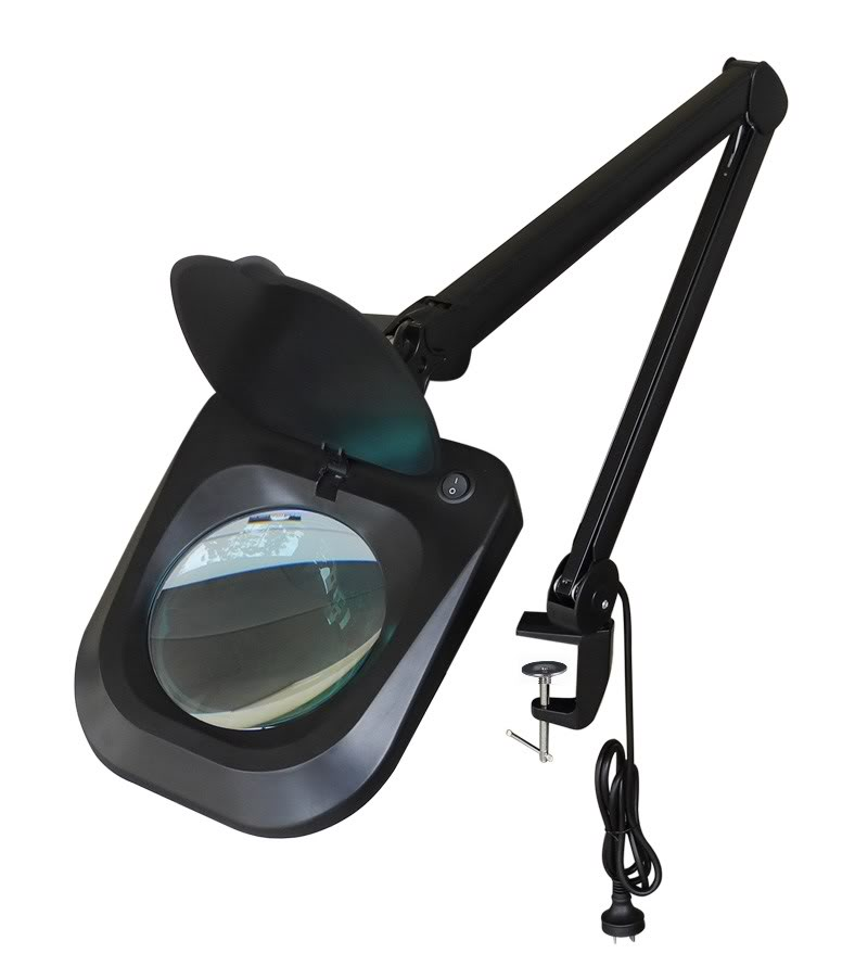 LED black 6 series magnifying lamp