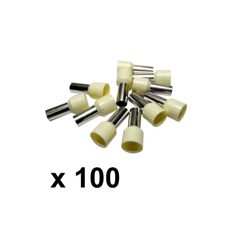 16mm² Bootlace Ferrules (100) - Rhino Electricians Tools
