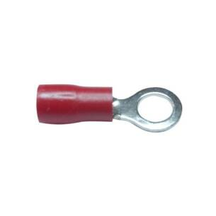 Red insulated ring terminal (100)