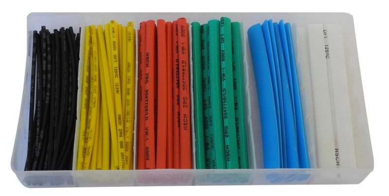 100 Piece colour heatshrink kit