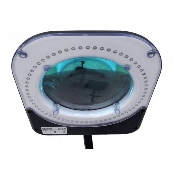 Black 6 inch Led magnifying lamp