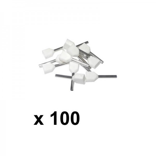 0.5mm double wire bootlace ferrules