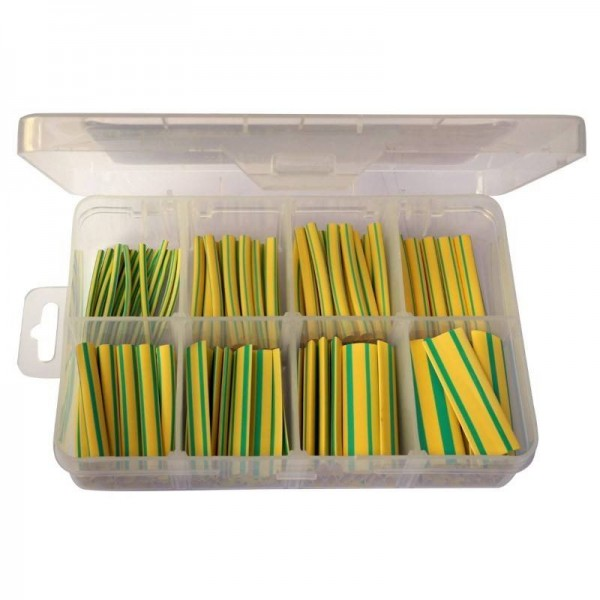 Earth green yellow heat shrink