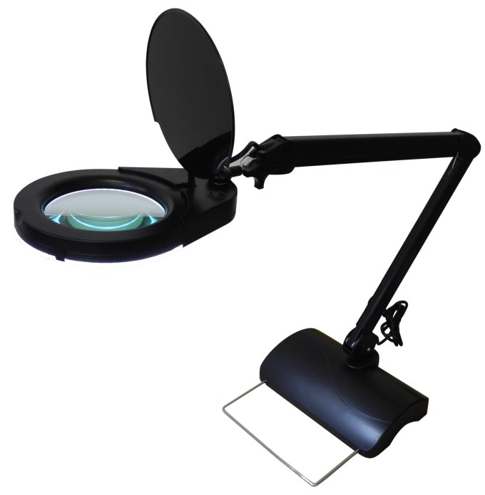 magnifier light with stand 5 inch led magnifying lamp with. Black Bedroom Furniture Sets. Home Design Ideas