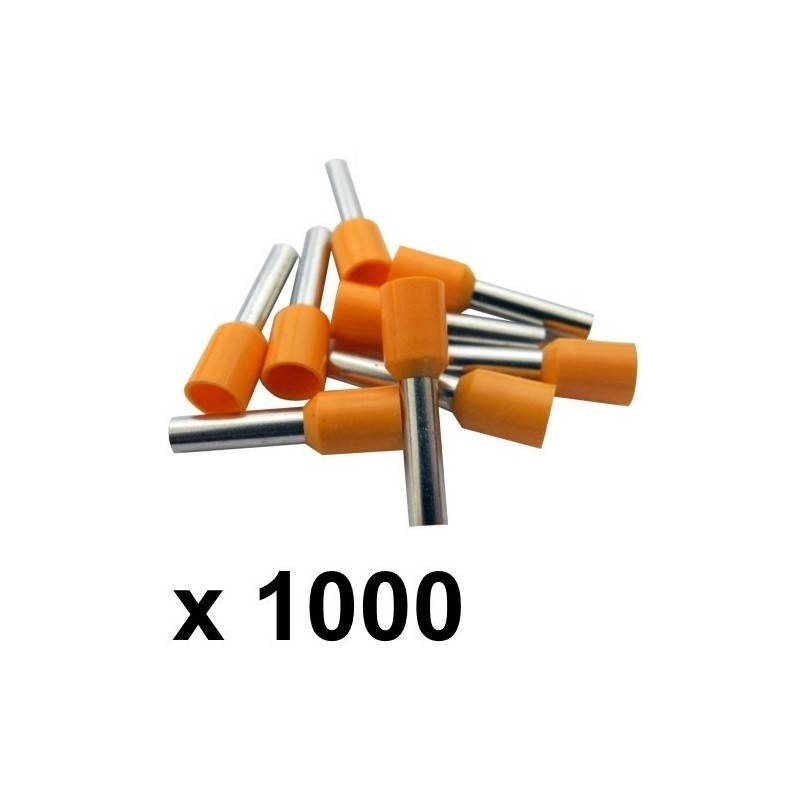 Pack of 100 Electrical Equipment & Supplies Orange 4mm