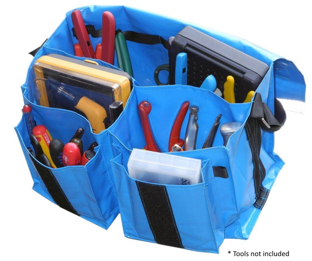 Heavy duty toolbag for electricians