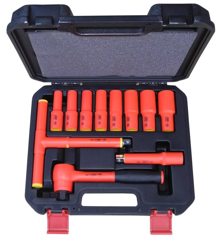 Insulated socket set 1000V