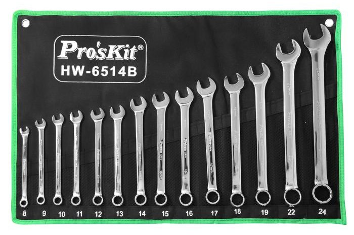 ProsKit HW-6514B combination wrench set