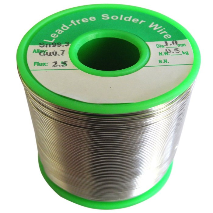 1mm Lead Free Solder Wire 0 5kg Rhino Electricians Tools